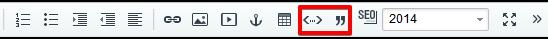 Кнопки вставки кода и цитат в новый визуальный редактор Битрикс